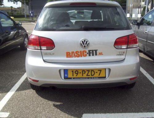 Basic-Fit Bedrijfsauto's reclamebelettering