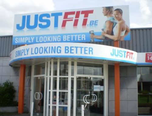 Just-Fit gevelreclame