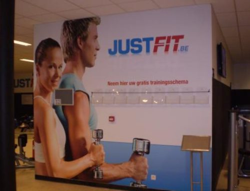 Just-Fit instore reclame