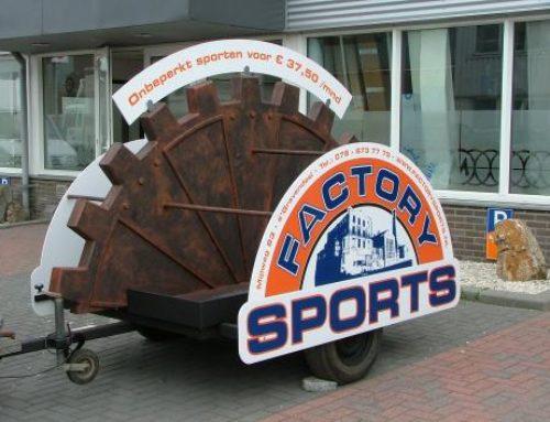Factory Sports reclame-aanhanger