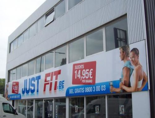 Just-Fit reclameborden